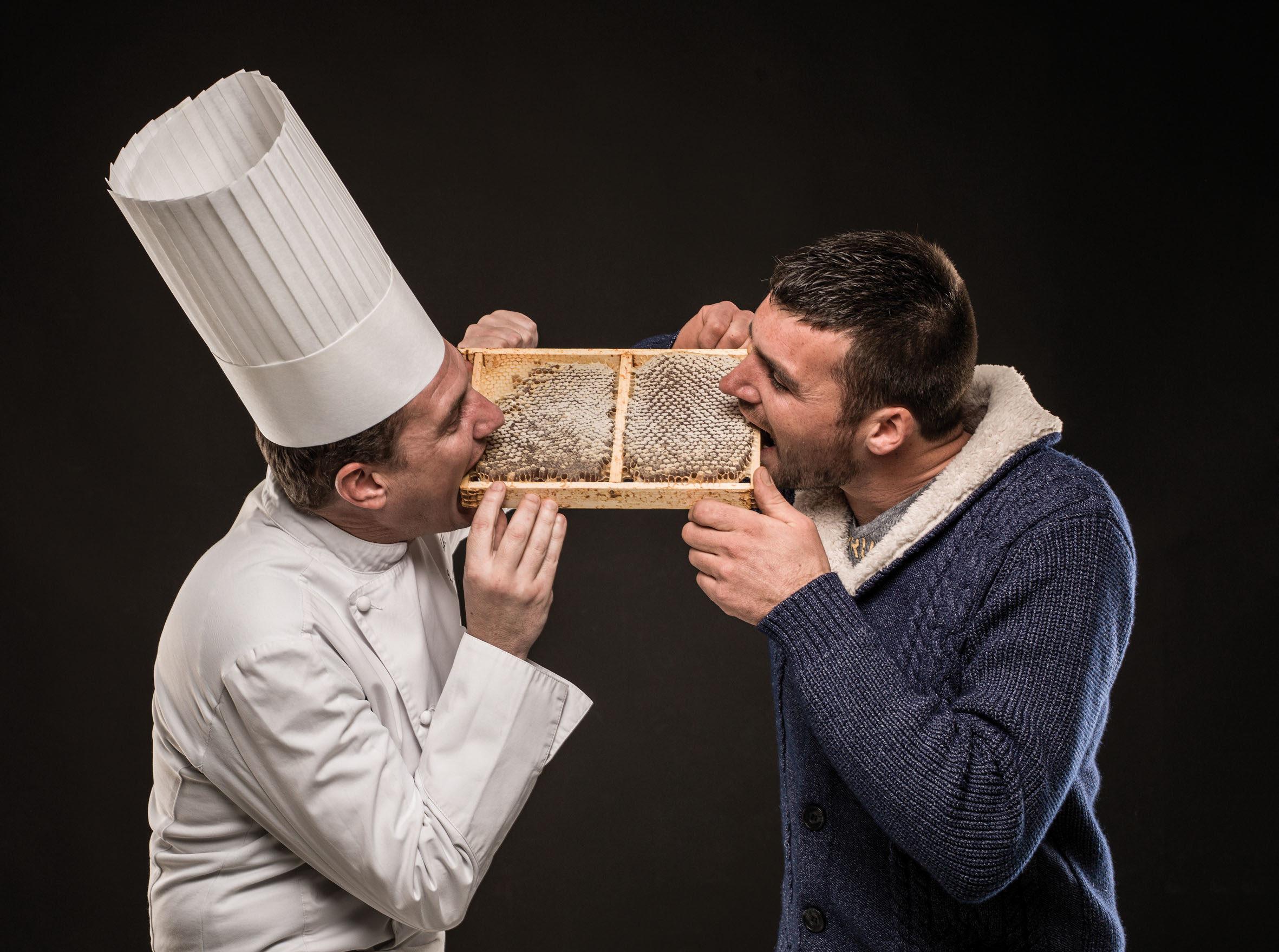 Damien Blampey - Eric Prowalski - Miel - Marché des Producteurs - Restaurants Trésoms Annecy