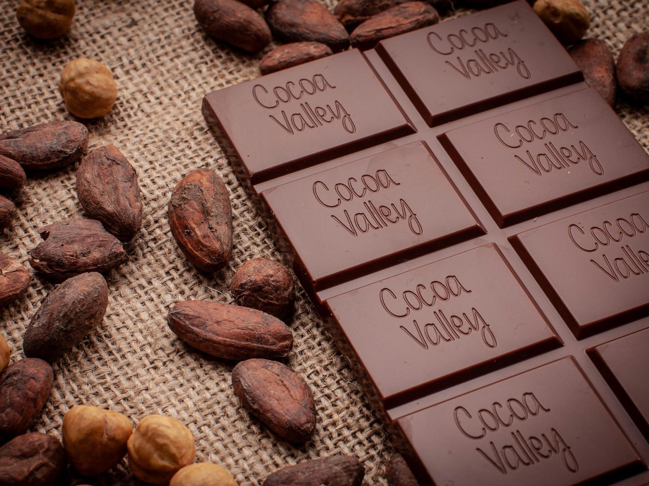 Fèves de cacao - Tablette de chocolat -- Cocoa Valley - Marché des Producteurs - Les Trésoms Annecy