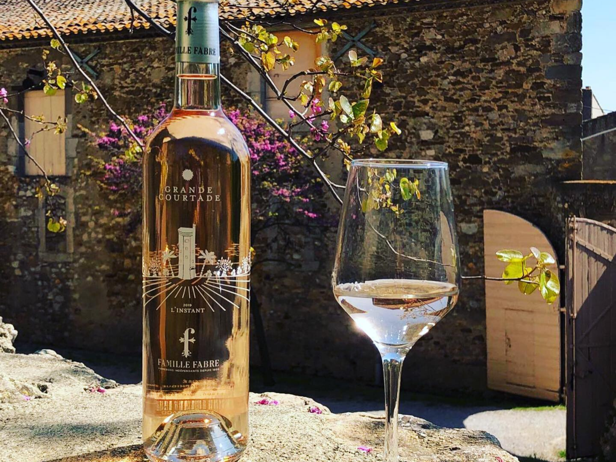 Vin rosé Famille Fabre - Marché des producteurs - Les Trésoms Annecy